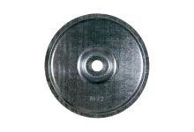 Placchetta rotonda diametro 70 mm liscia serie F bombata
