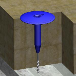 Tubo telescopico fissaggio isolante R75 - Posato, sezione